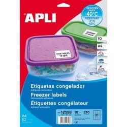 Etiquetas Apli Congelador 63,5x38,1 10h A4