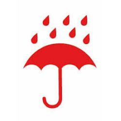 """Etiquetas  """" MANTENER SECO"""" paraguas"""