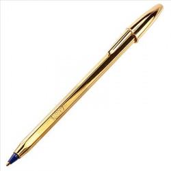 Bolígrafo BIC Dorado Azul