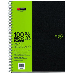 Notebook4 A4 Basic PP Eco Negra