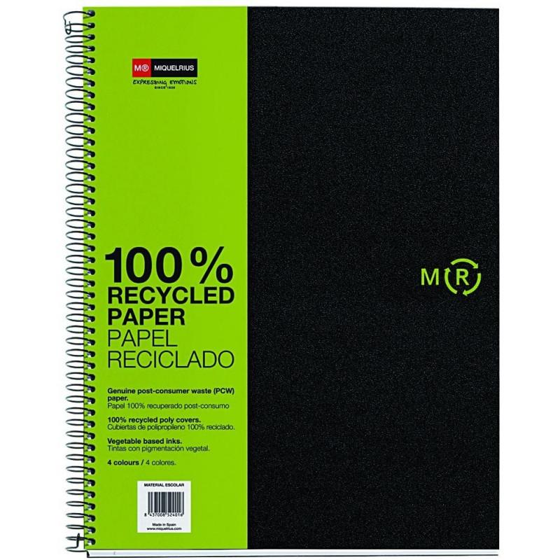 Notebook4 A4 Basic PP Eco Negra