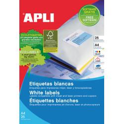Etiquetas Blancas 38x21,2  25f A4