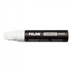 Rotulador Fluoglass punta plana 15mm blanco