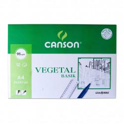 Canson Vegetal Basik A4 12h 95gr