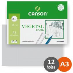 Canson Vegetal A3 95gr 12h.