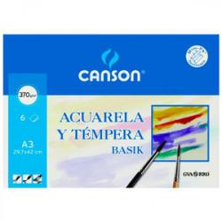 Canson Acuarela BASIK A3 6h 370gr.