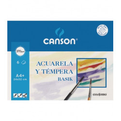 Canson Acuarela BASIK A4 6h 370gr