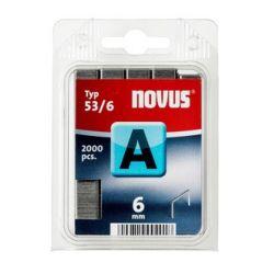 Grapas Novus A 53/6 2000u Galvanizadas