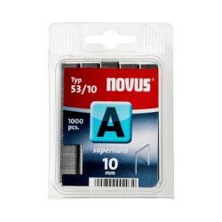 Grapas Novus A 53/10 superhart 1000u Galvanizadas