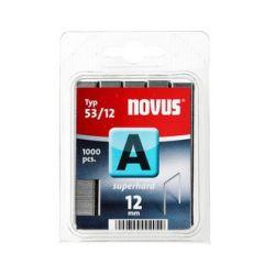 Grapas Novus A 53/12 superhart 1000u Galvanizadas