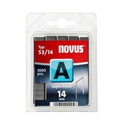 Grapas Novus A 53/14 superhart 1000u Galvanizadas