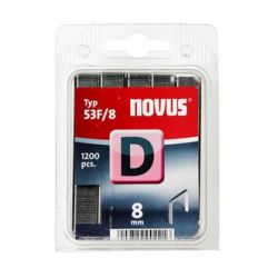 Grapas Novus D53F/8 1200u Galvanizada