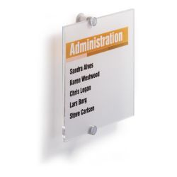 Identificadores CRYSTAL SIGN  210x210mm