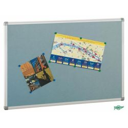 Tablero de corcho tapizado textil  Gris 90x120
