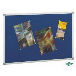 Tablero de corcho tapizado textil  Azul 90x120