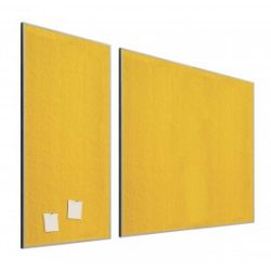 Tablero de corcho tapizado textil  Amarillo 90x120