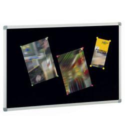 Tablero de corcho tapizado textil  Negro 90x120