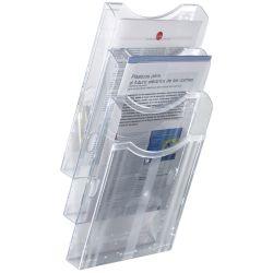 Expositor de Pared A4 Vertical Azul  A4 Azul de 5 a 10 unidades
