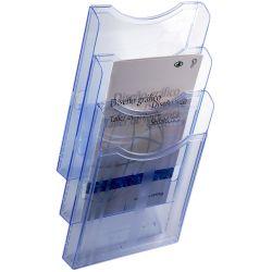 Expositor de Pared A4 Vertical Azul  A4 Azul de 1 a 4 unidades