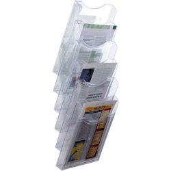 Expositor de Pared A4 Vertical   A4 Transparente de 5 a 10 unidades