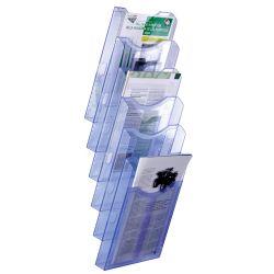 Expositor de Pared A4 Vertical   A4 Azul de 1 a 4 unidades