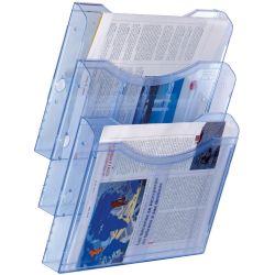 Expositor de Pared A4 Horizontal  A4 Azul de 5 a 10 unidades