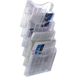 Expositor de Pared A4 horizontal  A4 Transparente de 1 a 4 unidades