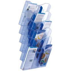 Expositor de Pared A4 horizontal  A4 Azul de 1 a 4 unidades