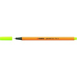 Rotulador Stabilo POINT 88  Amarillo fluorescente