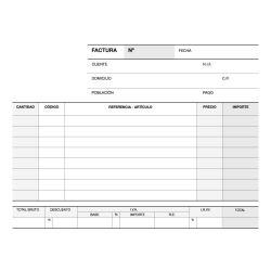 Talonario Facturas Apli 145x105mm - 50/50 hojas