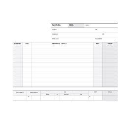 Talonario Facturas Apli 210x145mm Catalán 50/50 hojas