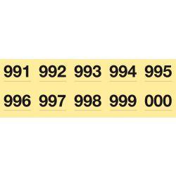 Tiras de Rifa Apli colores surtidos 150x50 mm. Numerados del 1 al 1.000.