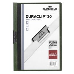 Dossier con pinza DURACLIP30  Verde