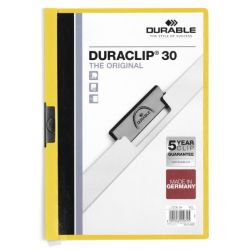 Dossier con pinza DURACLIP30  Amarillo