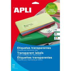 Etiquetas Poliester Transparentes  105x148 et/hoja 4