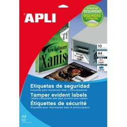 Etiquetas Adhesivas APLI SEGURIDAD  45,7x21,2 et/hoja 48