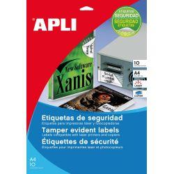 Etiquetas Adhesivas APLI SEGURIDAD  40mm et/hoja 24