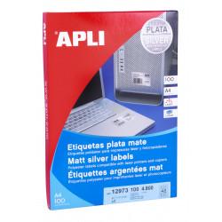 Etiquetas Adhesivas Metalizadas 100h  45,7x21,2 et/hoja 48