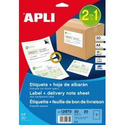 Etiquetas APLI opacas Integradas