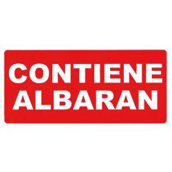 Etiquetas APLI CONTIENE ALBARAN