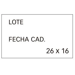 Etiquetas Etiquetadoras 26x16mm Cantos Rectos  Blanco R