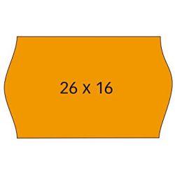 Etiquetas Etiquetadora 26x16mm Con Forma  Naranja R
