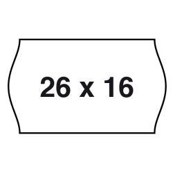 Etiquetas Etiquetadora 26x16mm Con Forma  Blanco P