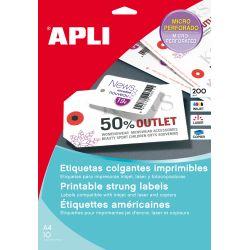 Etiquetas Colgantes Apli Imprimibles 2 Caras  98x57 et/hoja 10