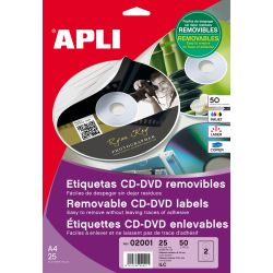 Etiquetas Removibles CD-DVD 114mm