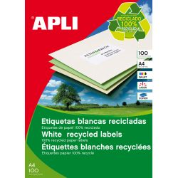 Etiquetas Adhesivas Apli recicladas 100h  70x37 et/hoja 24